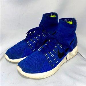 Nike Lunarlon vintage knit top blue mens sz 10